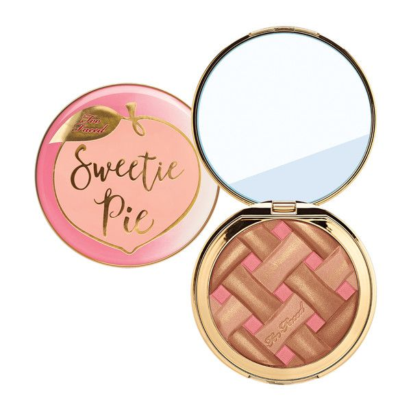 Peaches Cream Sweetie Pie Bronzer ($30) ❤ liked on Polyvore featuring beauty products, makeup, cheek makeup and cheek bronzer