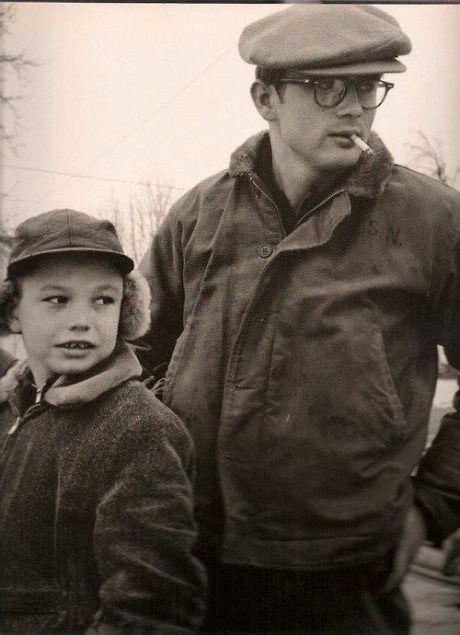James Dean 1955 wearing USN Deck Jacket.