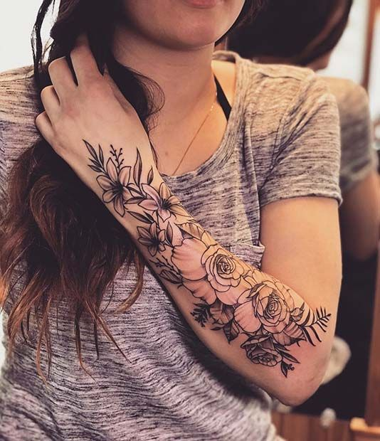 43 beaux tatouages de fleurs pour les femmes Les fleurs sont des motifs de tatouage populaires pour les femmes …   – Trend Tätowierungen