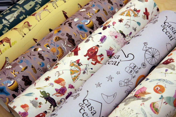Romanian designs for gift wrap paper