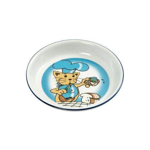 Aus der Kategorie Näpfe  gibt es, zum Preis von   <p>Handbemalter Katzennapf aus hochwertiger Keramik.<br><br>Fassungsvermögen: ca. 200 ml<br>Durchmesser: ca. 16 cm</p>