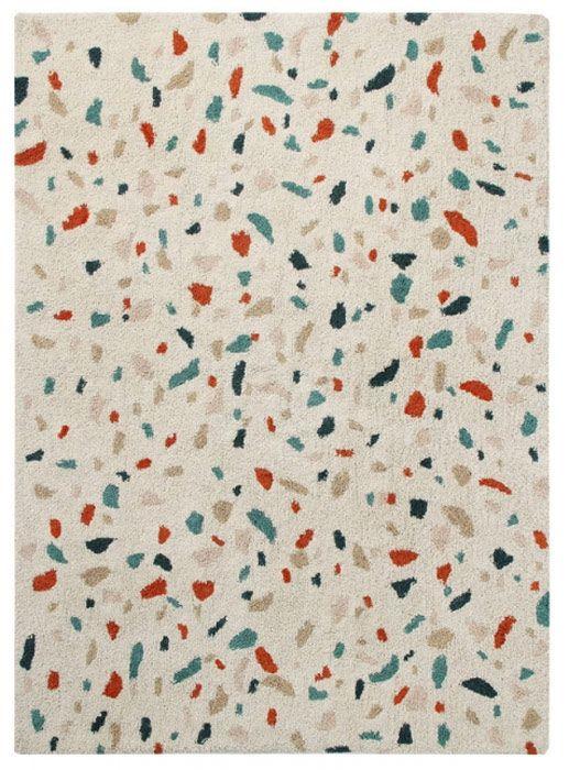 Beige 200x140 cm Lorena Canals Tapis Lavable Bereber Canvas 100/% Coton Noir