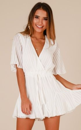 f90430b1eb5e Lush Lover Dress In White Lace in 2019 | Graduation dress | Playsuit ...