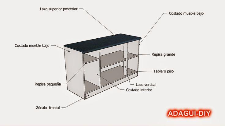 44 best images about muebles de cocina melamina madera mdf for Manual para hacer muebles de melamina