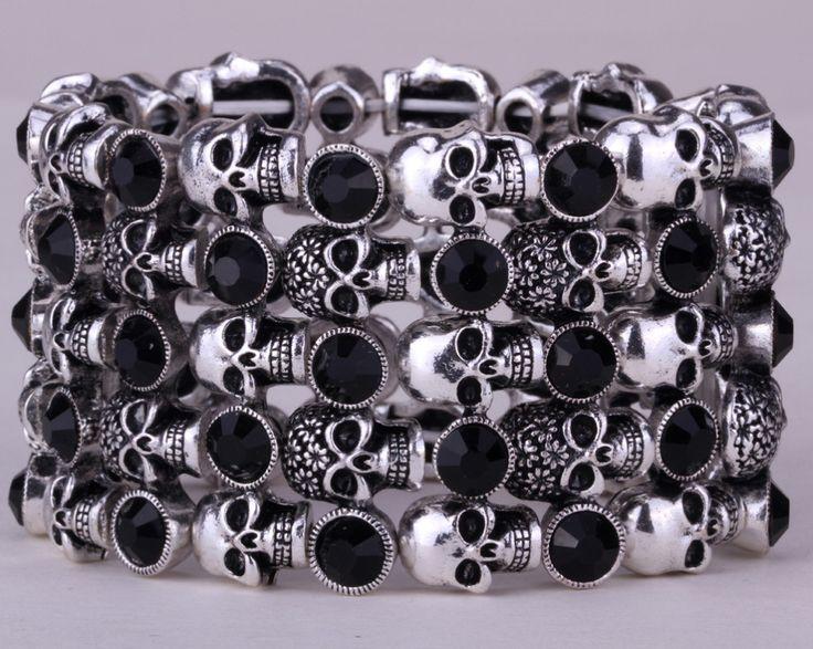 Skull Stretch Women's Bracelet //Price: $17.99 & FREE Shipping //     #skull #skullinspiration #skullobsession #skulls
