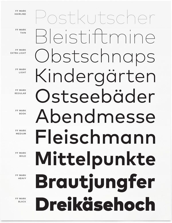 FF Mark by FontFont | Poster & Cover & Typo
