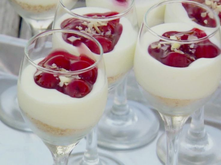 Cherry Cheesecake Shooters from FoodNetwork.com