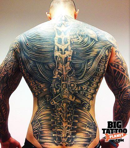 Simon Smith - Biomechanical Tattoo   Big Tattoo Planet