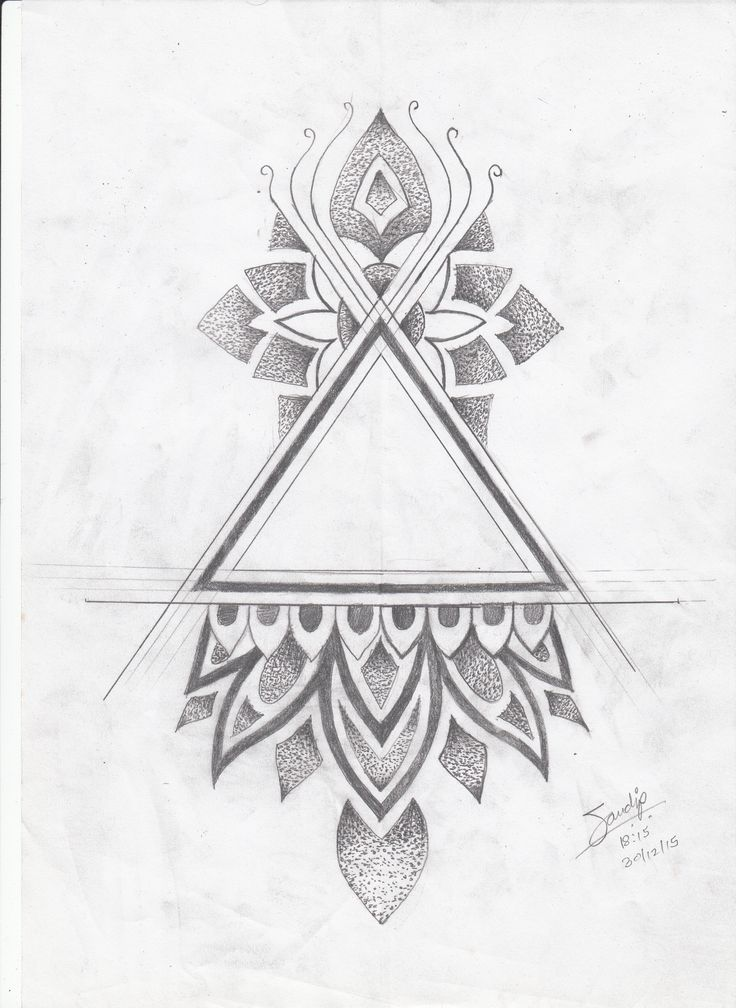 Top 25 best triangle tattoos ideas on pinterest meaning of woo geometric triangle tattoo and - Tatouage 3 points en triangle ...