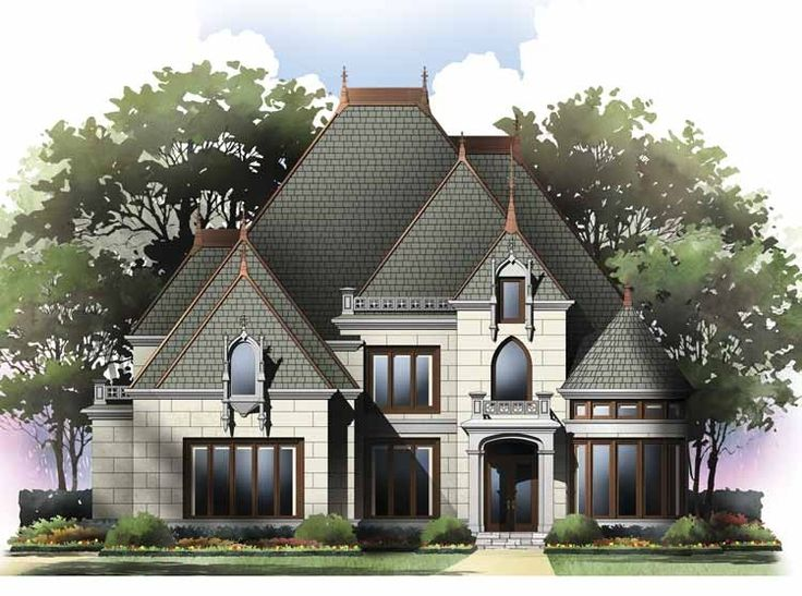 gothic revival house plan with 2979 square feet and 4 bedrooms from dream home source - Steamboat Gothic House Plans