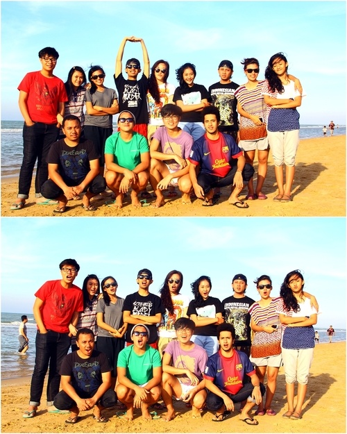Kuddah Family teen vacation. Lombang Beach, Sumenep. Madura Island :D
