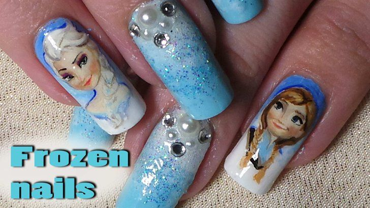 Pin for Later: 15 Elsa-Inspired Beauty DIYs For a Fantastically Frozen Halloween SCSNails