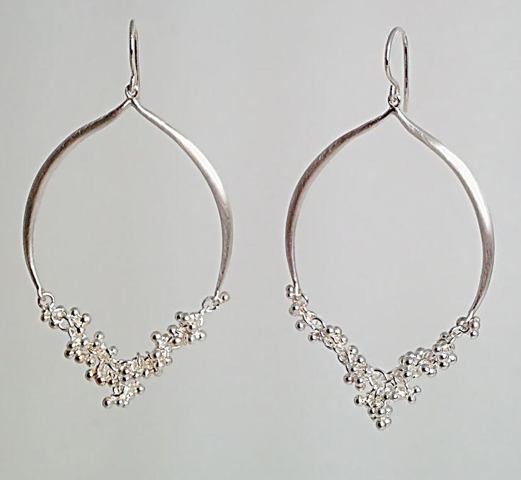 Silhouette Earrings: Silhouette Earrings With Granulation Detail