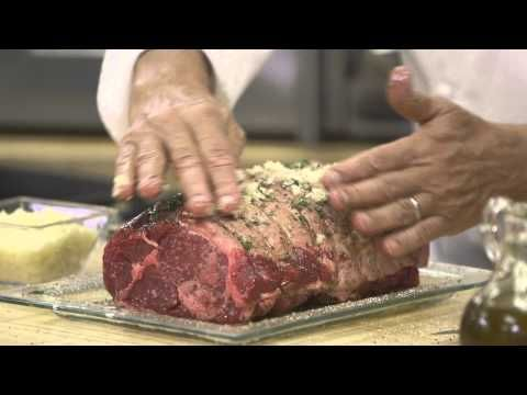 ▶ Exclusive Wolfgang Puck Pressure Oven Prime Rib with Garlic and Herbs in 40 Minutes - YouTube