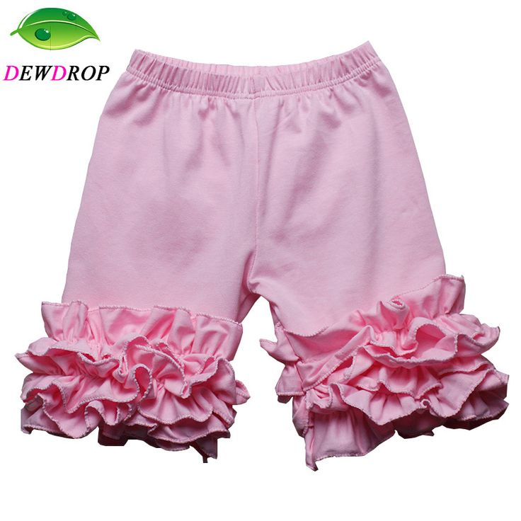 Cotton Ruffle Baby Shorts Maroon Toddler Girls Shorts Kids Knit Icing Baby Girl Shorts Children spring/Summer Clothes Shorties