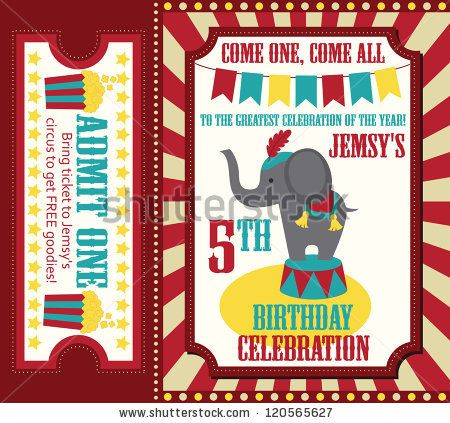 26 best invitation cards images on pinterest birthdays stock vector kid birthday invitation card design vector illustration stopboris Gallery