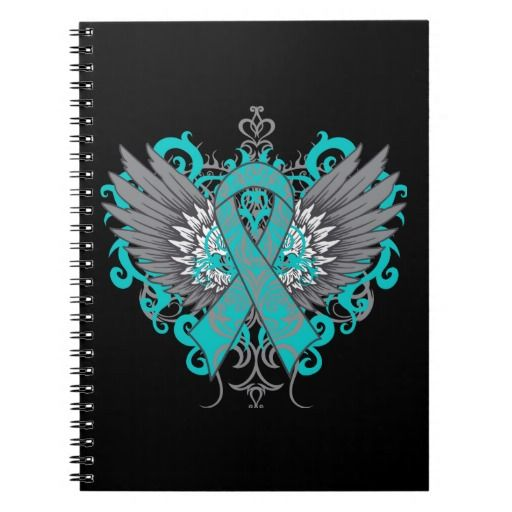 Scleroderma Awareness Cool Wings Spiral Notebook #Scleroderma #SclerodermaAwareness
