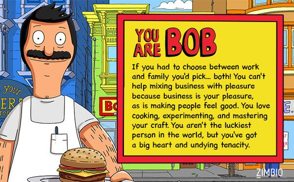 Which 'Bob's Burgers' Character Are You?