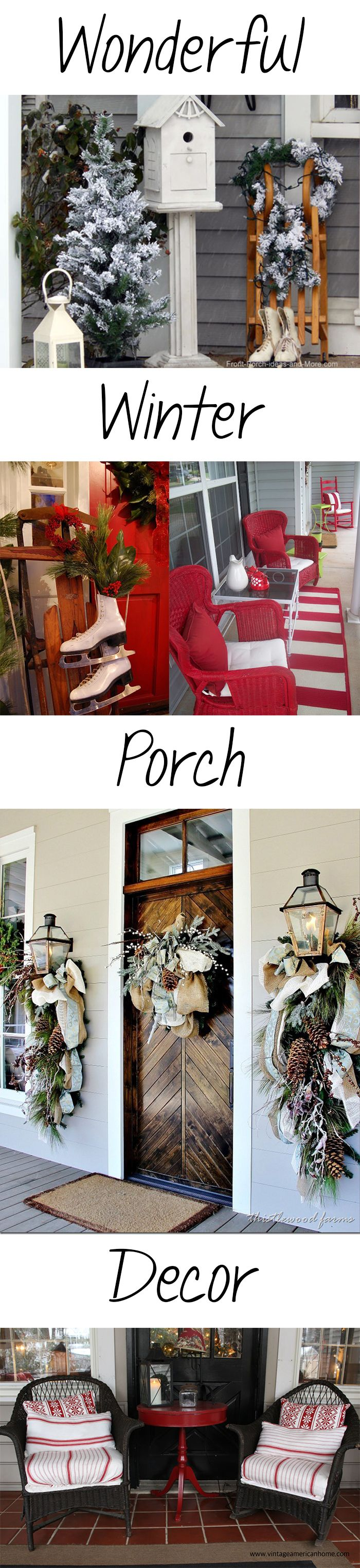 Take a look at these adorable ideas for making your winter porch decor memorable this year! #winterdecor #homedecor