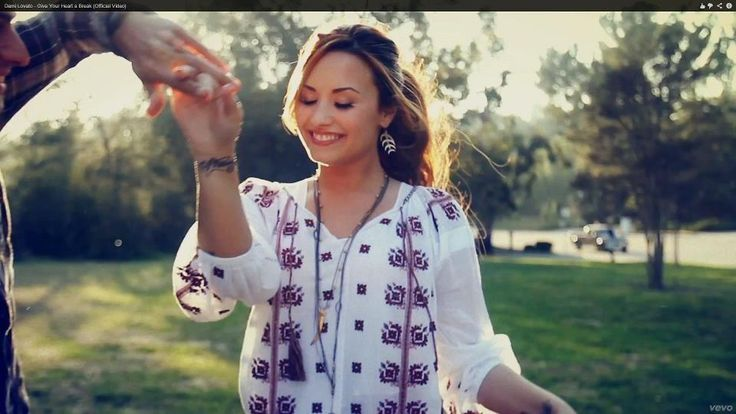 Demi Lovato in her new video Give Your Heart a Break. #lablouseroumaine #romanianblouse