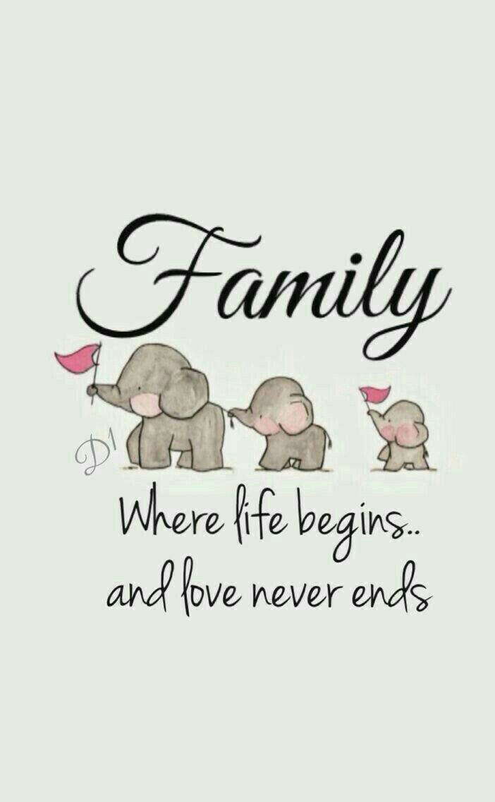 Starting a family starts a new life. And love will never be …   – Zitate und Sprüche