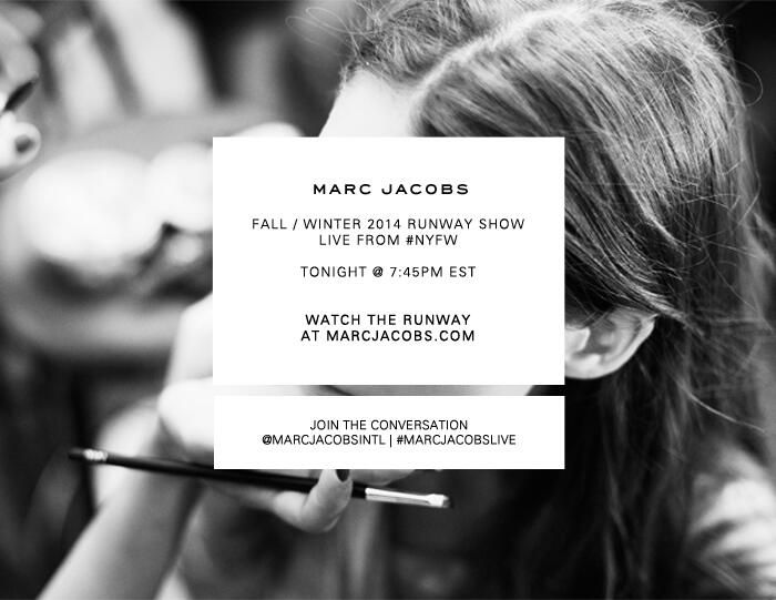 Invitation to Marc Jacobs Autumn-Winter 2014 Women Fashion Show #NYFW #RTW #AW14 #MarcJacobs #LVMH via twitter.com/MarcJacobsIntl
