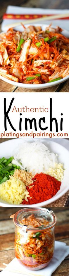 Authentic Kimchi - SO easy to make and keeps for a month in the fridge!
