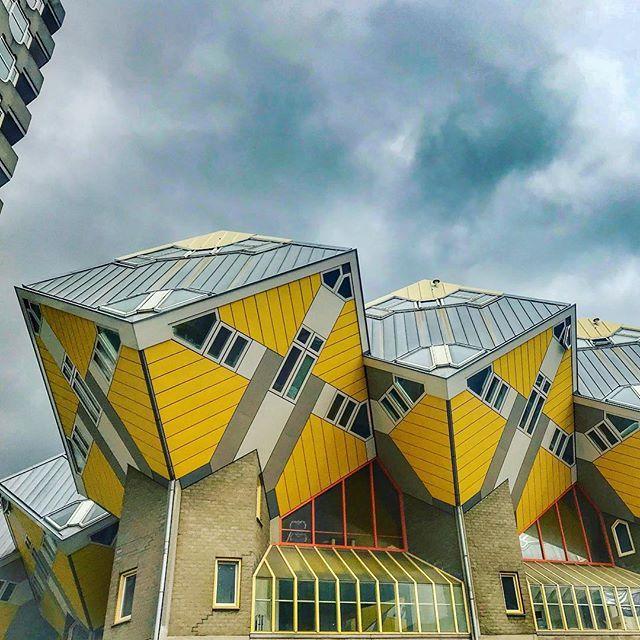 Cube Houses in Rotterdam casas cubo em Roterdão. Esta