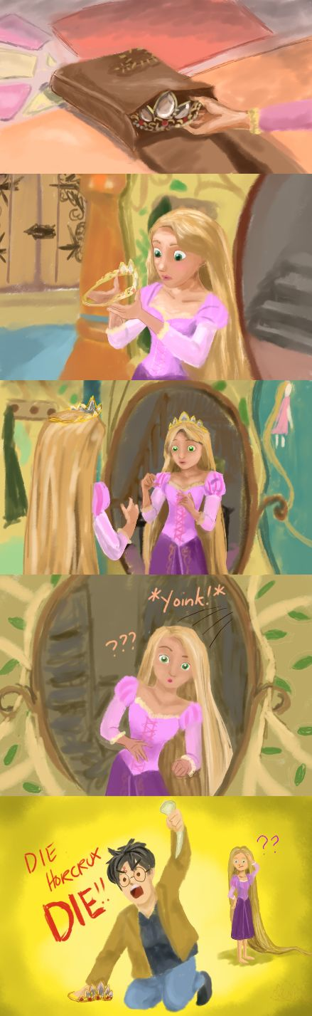 Rapunzel's Diadem by *siquia. Omg made me laugh!