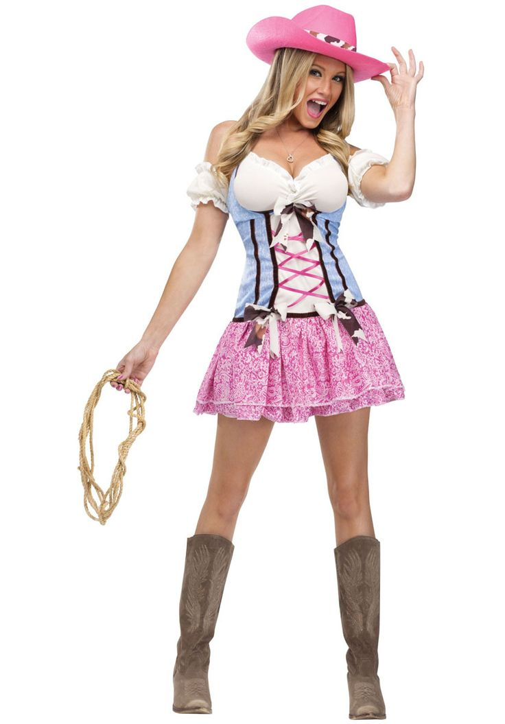 Rodeo Sweetie Costume, Sexy Cowgirl Fancy Dress - Historical Costumes at Escapade™ UK