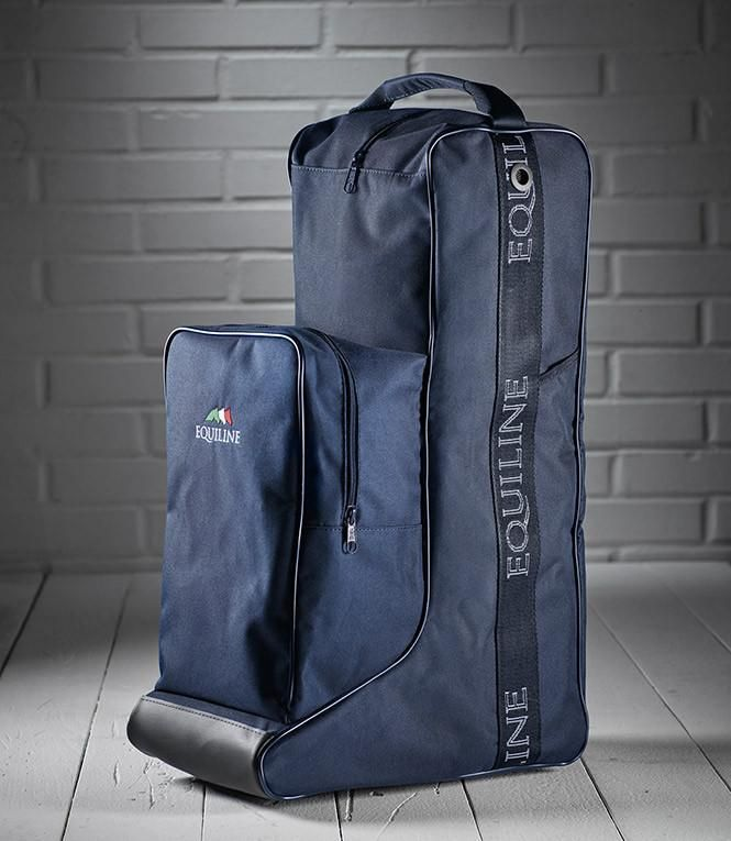 Equiline boots and helmet bag.