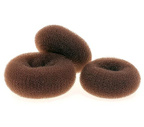 AJOY Bun Maker Hair Donut 3 Pieces Set, Brown, Small Medium Large, Rings Doughnut Buns Shaper for Chignon and Long Hair  //Price: $ & FREE Shipping //     #hair #curles #style #haircare #shampoo #makeup #elixir