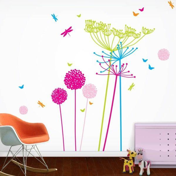 Die besten 25+ Blumen wandtattoos Ideen auf Pinterest - Wandtattoos Fürs Badezimmer