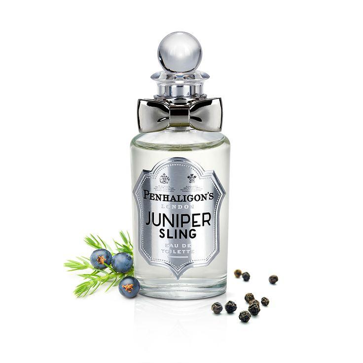 Penhaligon's Juniper Sling - un parfum inspirat de London Dry Gin, este un cocktail sclipitor de ienupăr, mirodenii și piele. O adevărată savoare pentru cei care vor să se simtă bine în pielea lor!