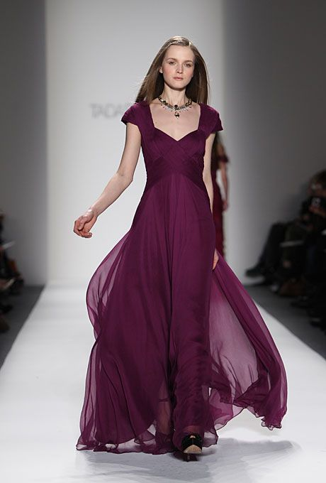 Brides: Mother-of-the-Bride Gown: Sweetheart neckline with cap sleeves by Tadashi Shoji
