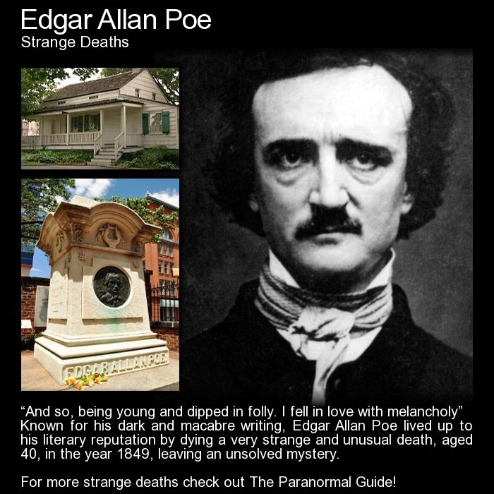 How to write an obituary for edgar allan poe