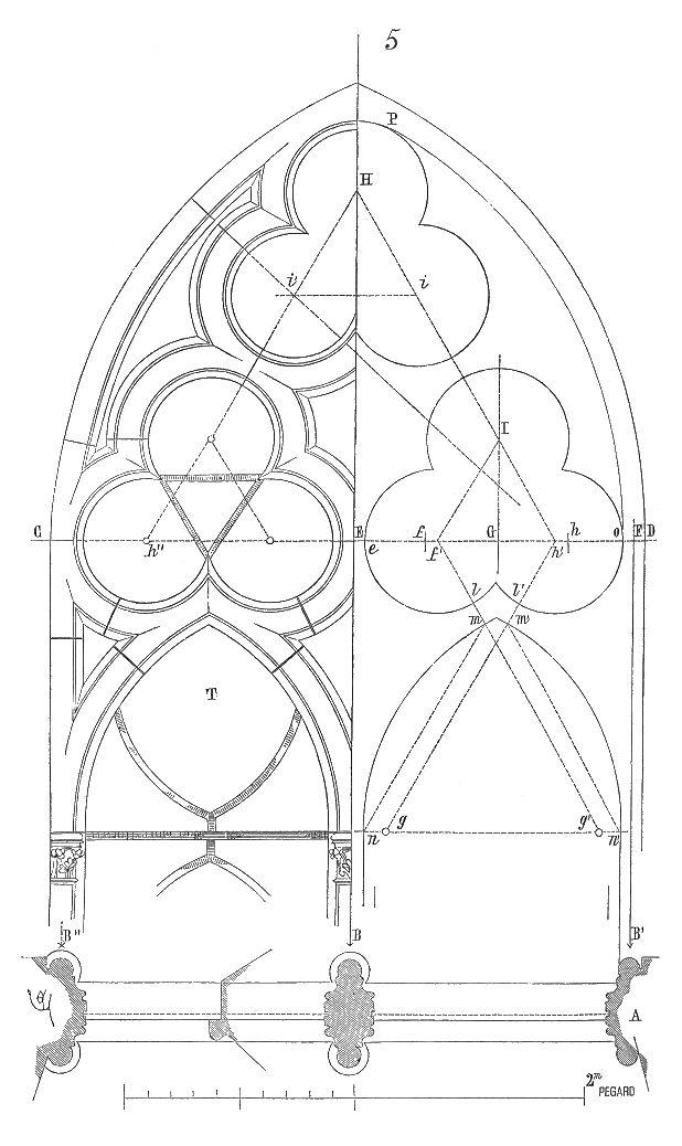 Meneaux fenetre cathedrale Amiens                                                                                                                                                                                 Plus