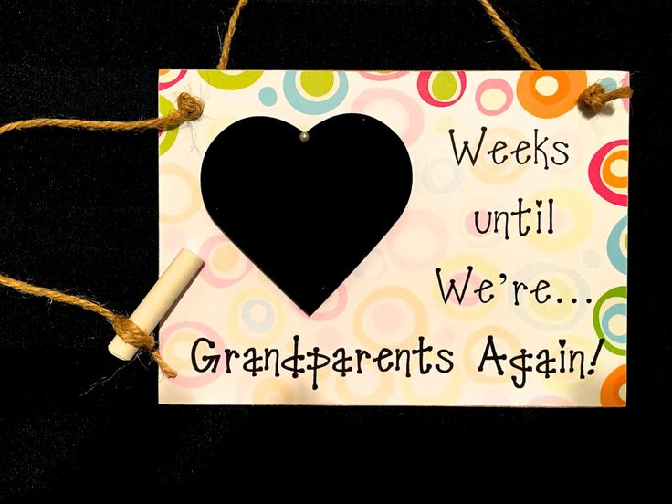 "Pregnancy Countdown, Gift For Grandparents, ""Days Until..We're Grandparents Again!"" Pregnancy Reveal to Grandparents, Mother's Day Gift by CountdownChalkboards on Etsy"