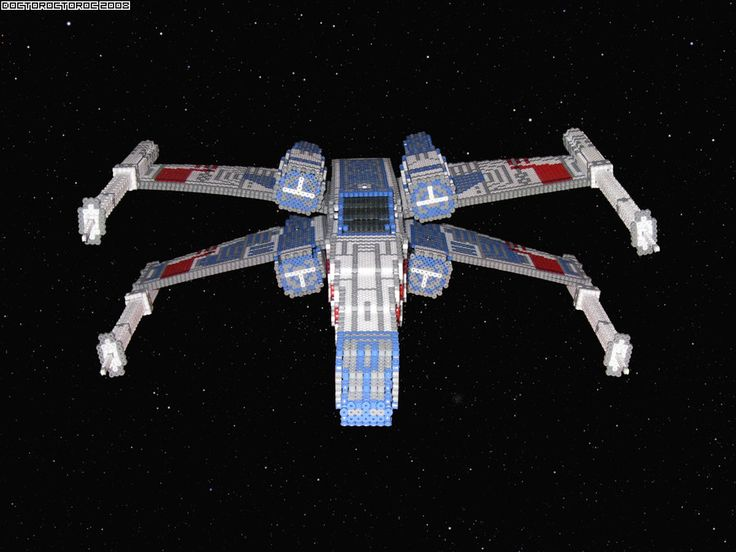 3D X Wing Bead Sprite front by DrOctoroc.deviantart.com on @DeviantArt