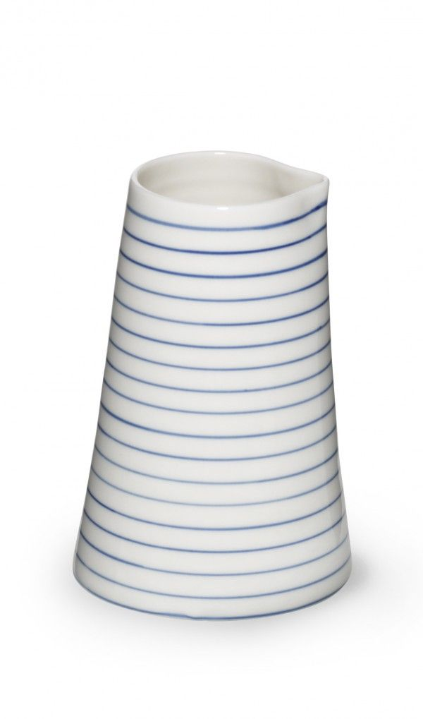 stripes jug narrow blue line - stripes jug narrow blue line - collections