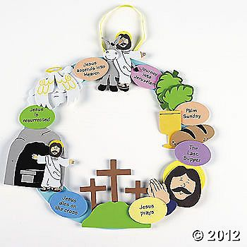 Easter story wreath! So many ideas for my little ones on Sunday :)