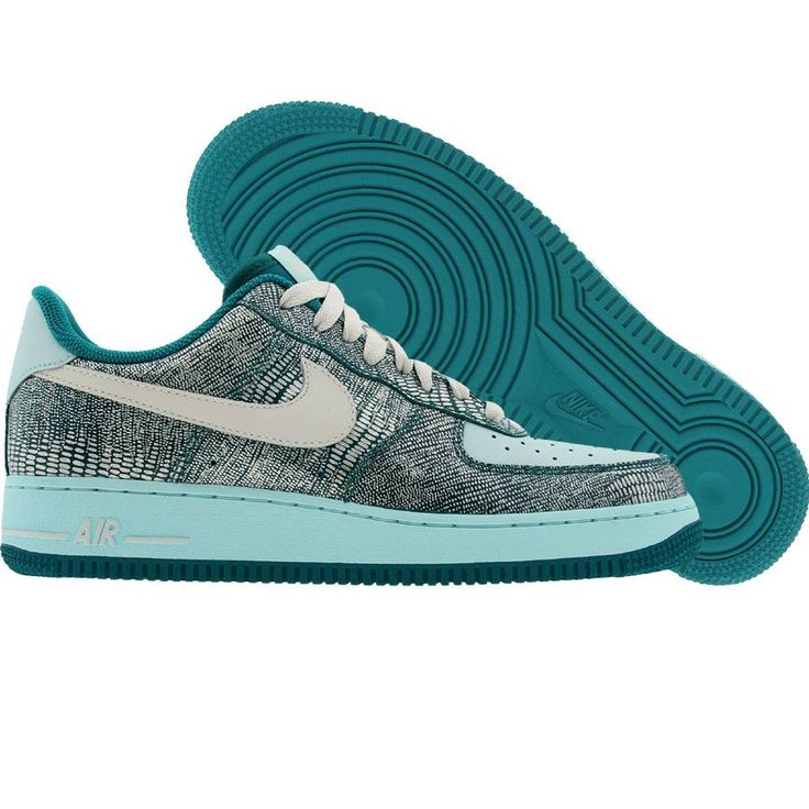 Nike Womens Air Force 1 Low (radiant emerald / swan / vaporize) 315115-