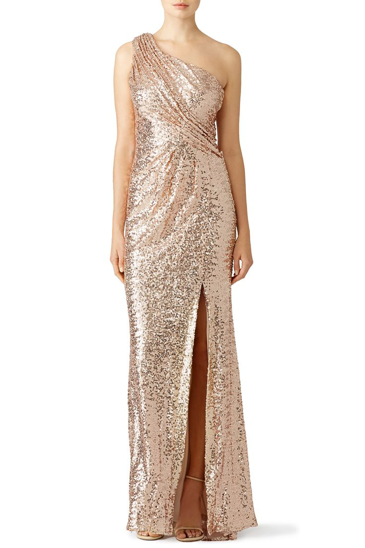Rent Blush Constellation Gown by Badgley Mischka for $100 only at Rent the Runway.