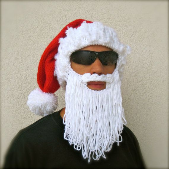Santa beard hat The Original Beard Beanie holiday long ...