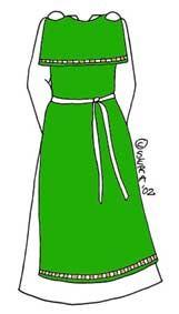 Johdatus muinaispuvun tekoon, noin vuoden 1000 jälkeisen Suomen naisen puku. Muinaispuku, aikansa emännän vaate  Satu Salo (Serafina de Castillon).
