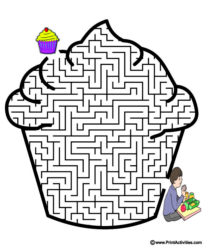 Cupcake Shaped Maze