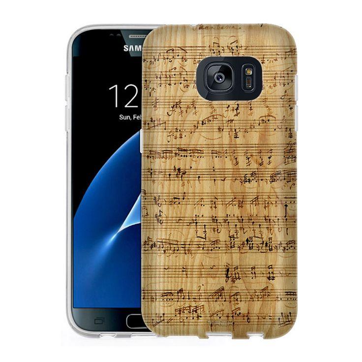 Samsung Galaxy S7 Burned Music Sheet on Wood Slim Case