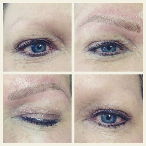 Get the most natural looking hair stroke semi permanent for Eyebrow tattoo microblading