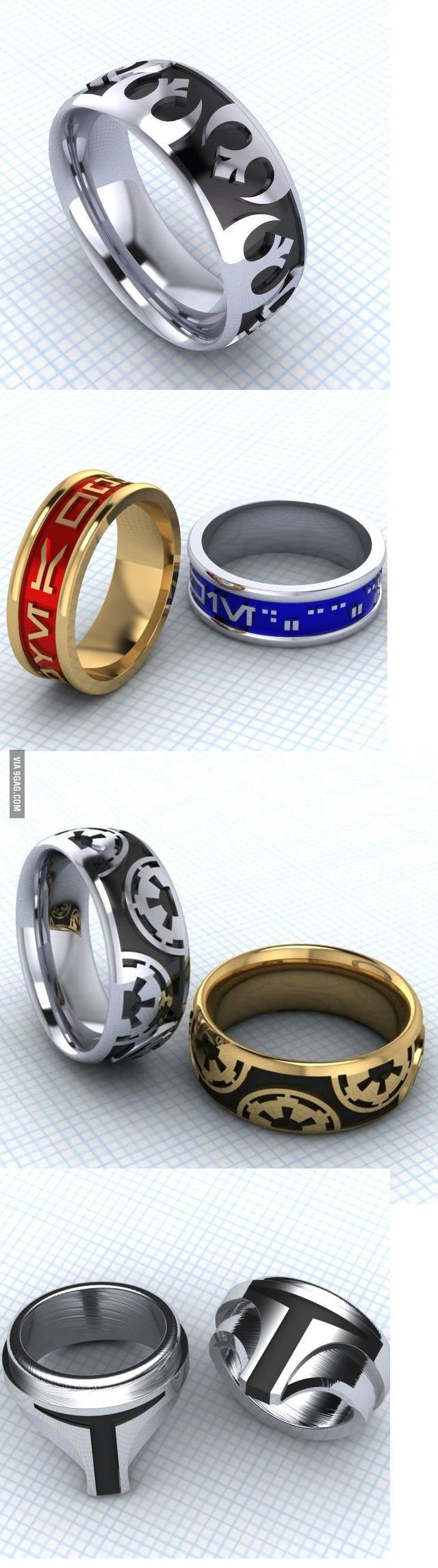 I Never Liked The Idea Of Marriage But, As A True Geek, These Rings Made Me  Reconsider