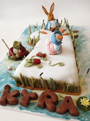 Beatrix Potter - 1st Birthday Cake